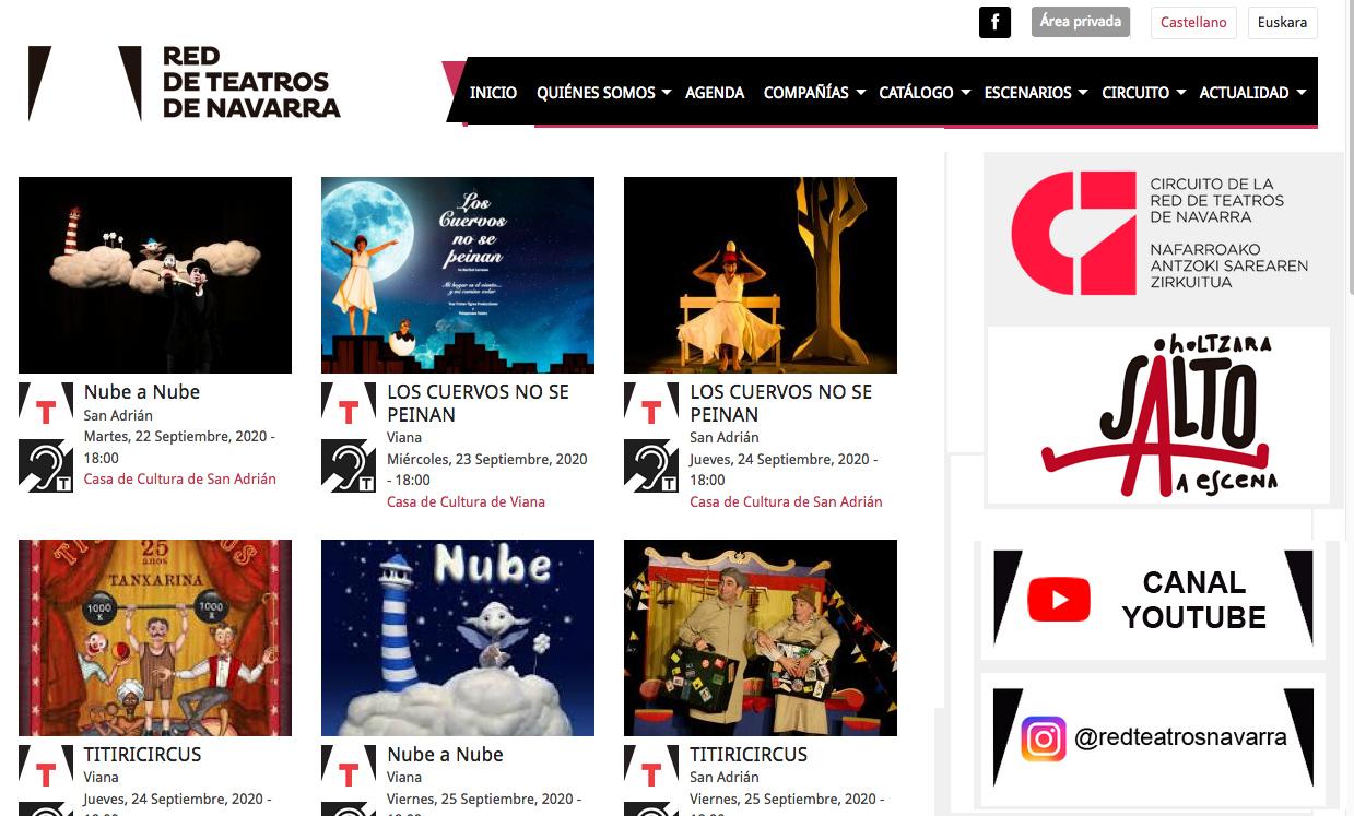 Web de la Red de Teatros de Navarra