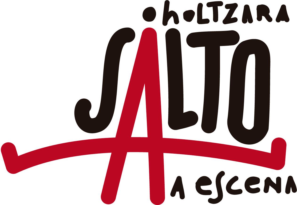 """Logotipo de """"Salto a Escena"""" de la Red de Teatros de Navarra"""
