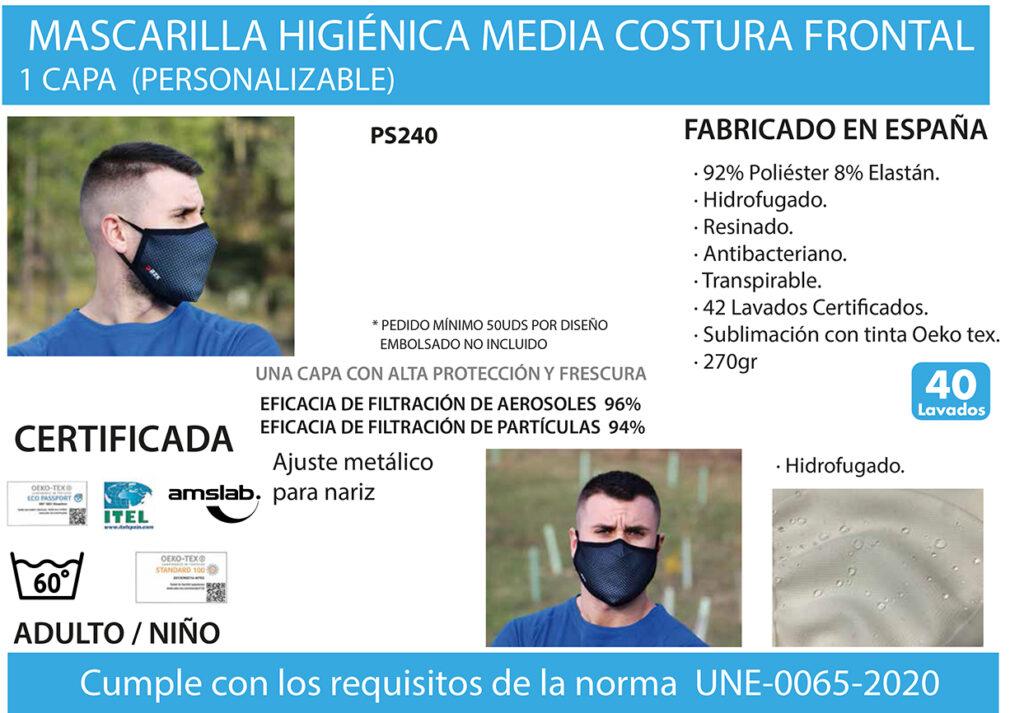 Mascarilla UNE 0065-2020