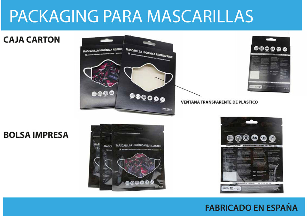 Packaging para mascarillas